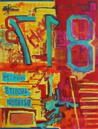 """48"""" x 64"""" Acrylic on canvas"""