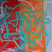 """36"""" x 36"""" Acrylic on canvas"""